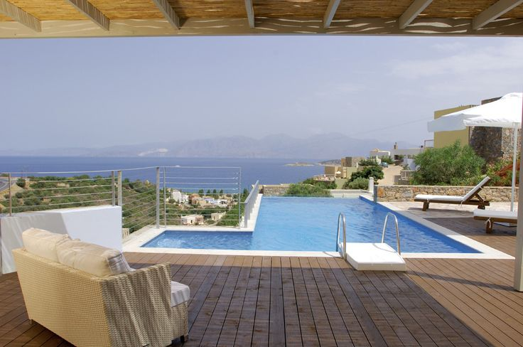Pleiades Villas Crete Sleeps from 4-6. Mesmerising views over Mirabello Bay are matched by exacting standards of comfort and service at these luxury villas on Crete. Pleiades is an exceptional collection of just nine very chic villas.