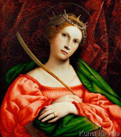 Lorenzo Lotto - Die Heilige Katharina von Alexandrien