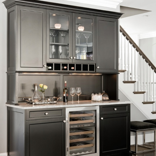 Bar With Built In Wine Cabinet And Fridge