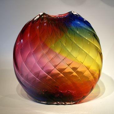 Rainbow Optic (patterning: mold blown project)