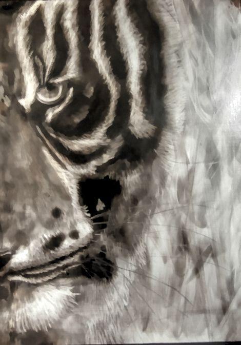 Painting with smoke, fumage art