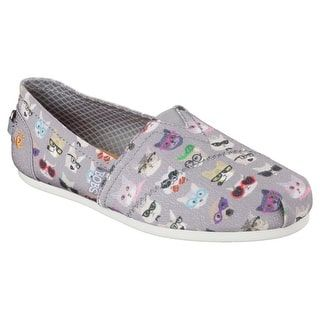 Shop for Skechers 34393 GRY Women's BOBS PLUSH-KITTY SMARTS Flat. Get free shipping at Overstock.com - Your Online Shoes Outlet Store! Get 5�0in rewards with Club O! - 21005553