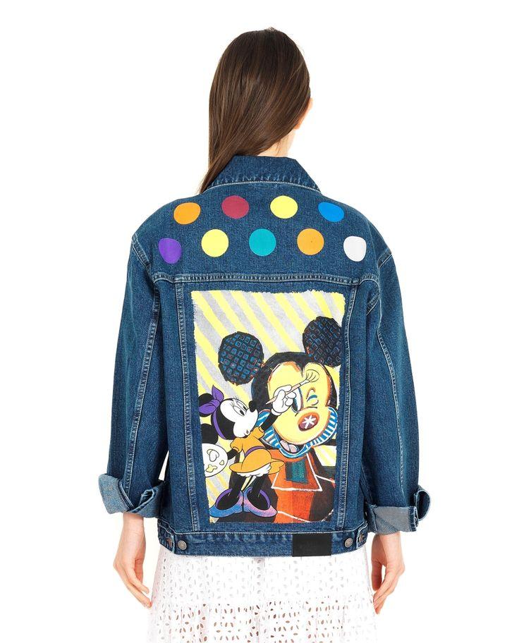 KATYA DOBRYAKOVA DISNEY DENIM JACKET SS 2016 Disney denim jacket front closure four front pockets back print cuffs with button 95% Cotton 5% Spandex hand wash