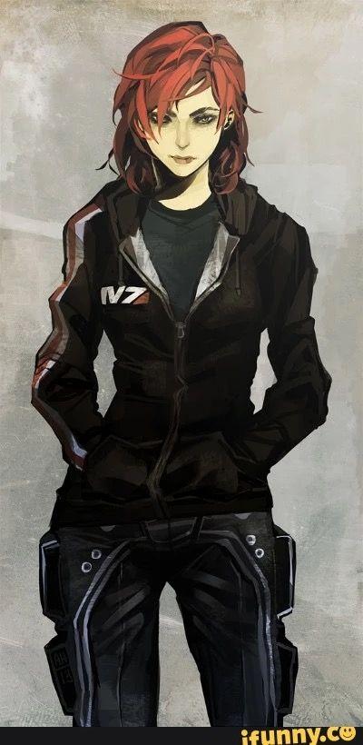 Commander Shepard -- art by Arlmuffin