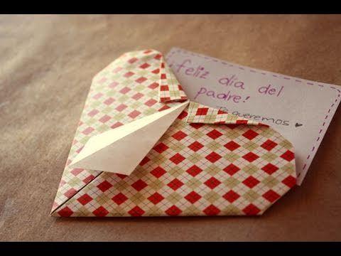 ▶ Corazon camisa // origami - Dia del padre - YouTube