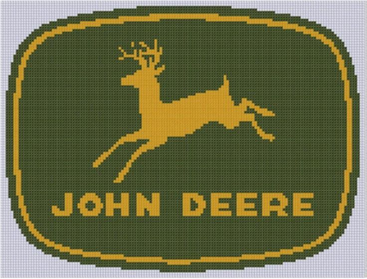 Looking for your next project? You're going to love John Deere Cross Stitch Pattern by designer mfdpatterns.