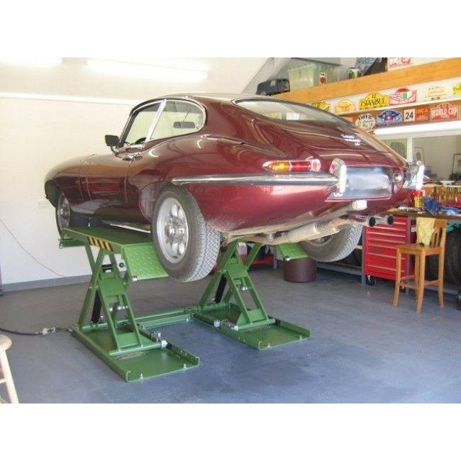 Strongman Clifton 3 Ton Mid Rise Mobile Platform Car Scissor Lift Ramp 240v