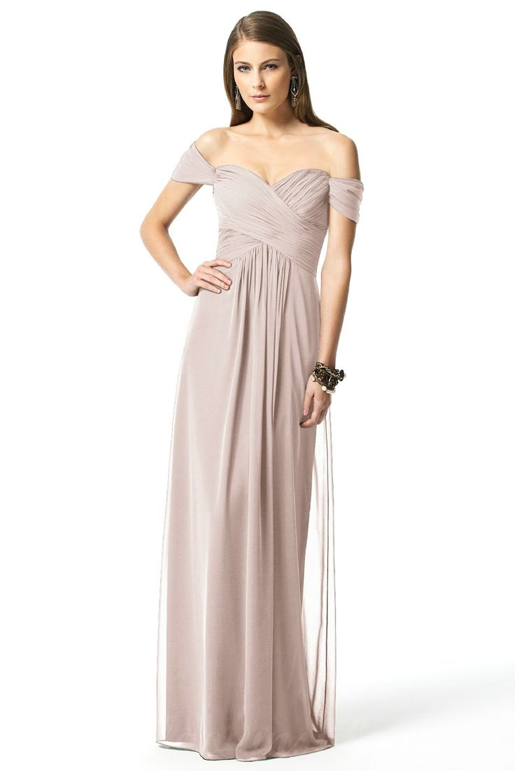 Dessy 2844 Bridesmaid Dress In Sage Green Chiffon
