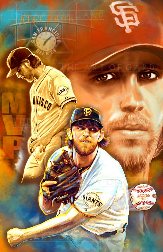 Madison Bumgarner MVP Collage 11X17 artist's print by TheArtofGARD