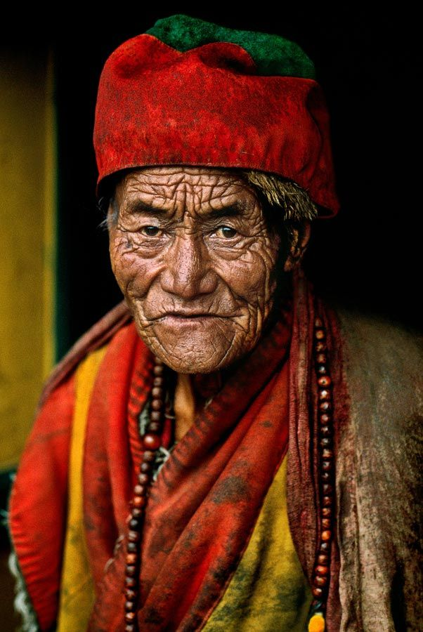 """Faces of Lhasa, Tibet    ~  """"Every wrinkle is but a notch in the quiet calendar of a well-spent life ~ Charles Dickens  and Photography by Steve McMurry"""