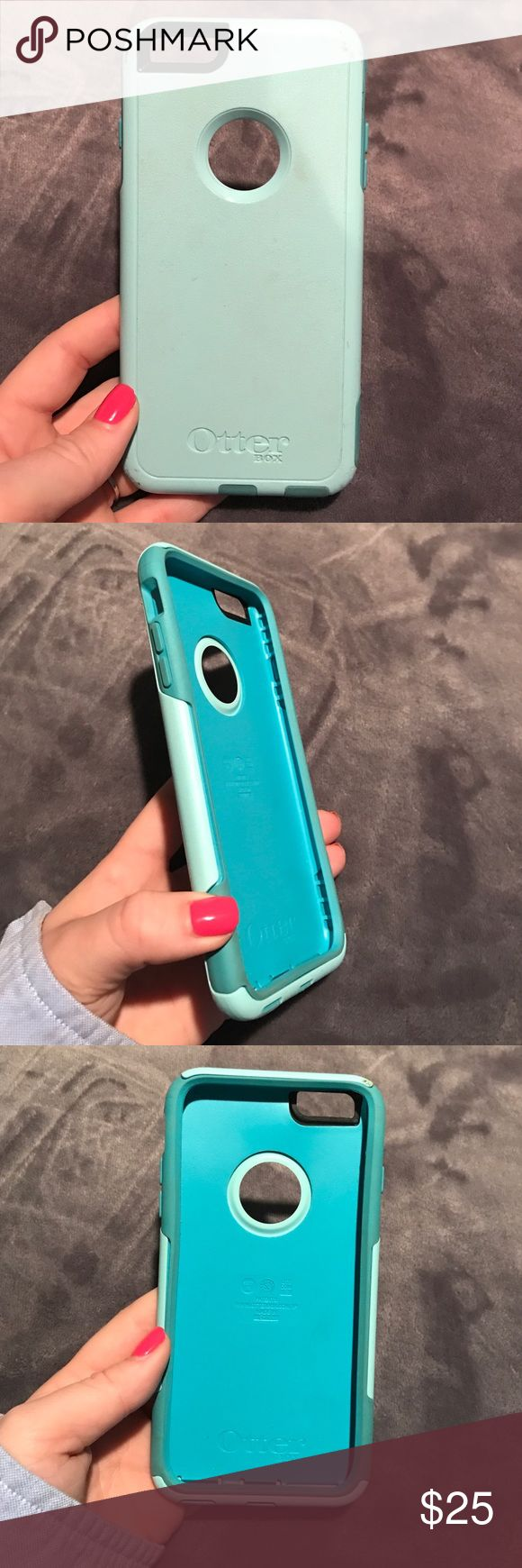 Otter box case IPhone 6s Plus Light blue and darker blue IPhone 6s Plus otterbox case. Has some scuffs. I cracked my phone so I upgraded! Just looking to get rid of some cases. Accessories Phone Cases