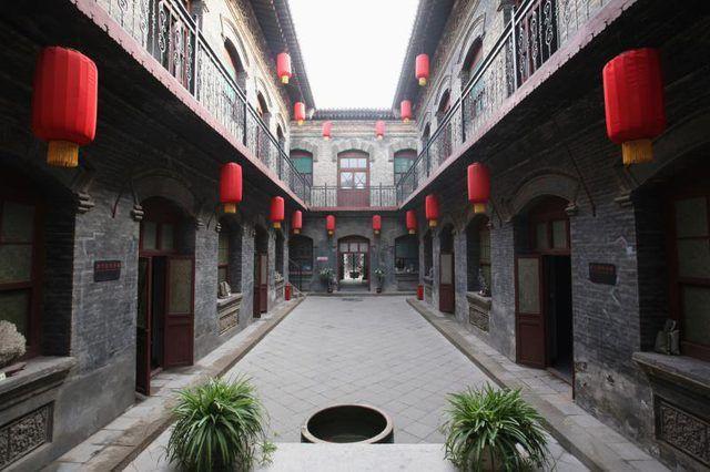 Chinese courtyard.