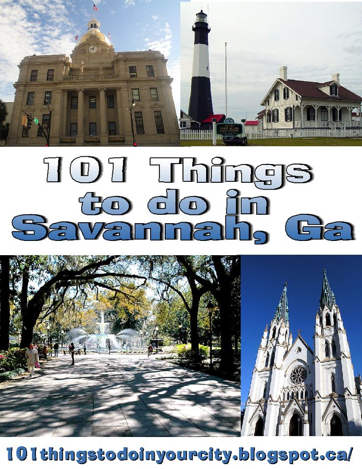 101 attractions and events in Savannah Georgia, 101 things to Do... Done most of these!
