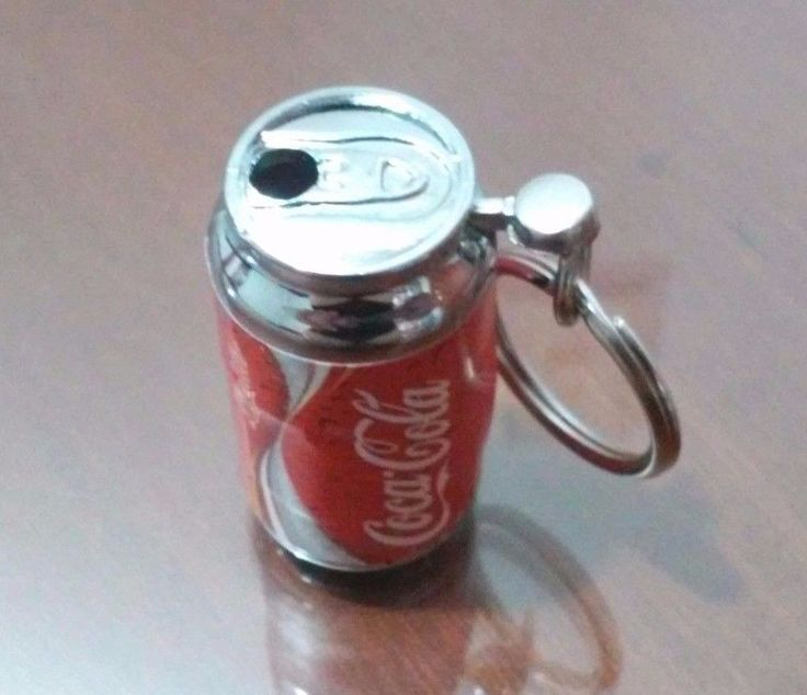 Collectible Keychain Lighter Coca Cola Drink Company Electric Refillable Red