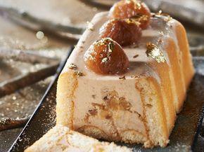 Découvrez la recette Bûche de Noël légère aux marrons sur cuisineactuelle.fr.