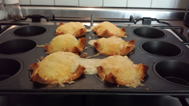 Baked and photographed by MSN  Croque Madame Muffins out of the oven..ready to serve and EAT