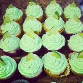 Tequila Shot Cupcakes w/Tequila Lime Frosting
