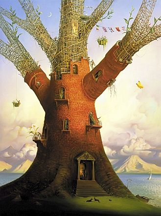 ♨ Intriguing Images ♨ unusual art photographs, paintings  illustrations - Vladimir Kush -  Family Tree