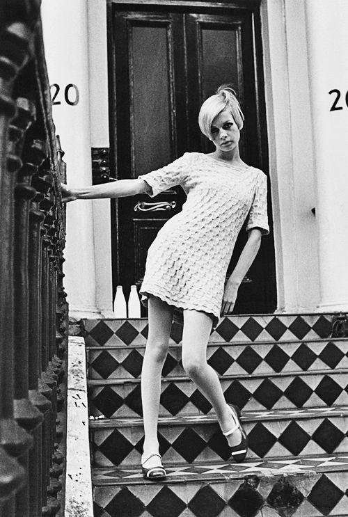 Twiggy, British model 1960s, London, England