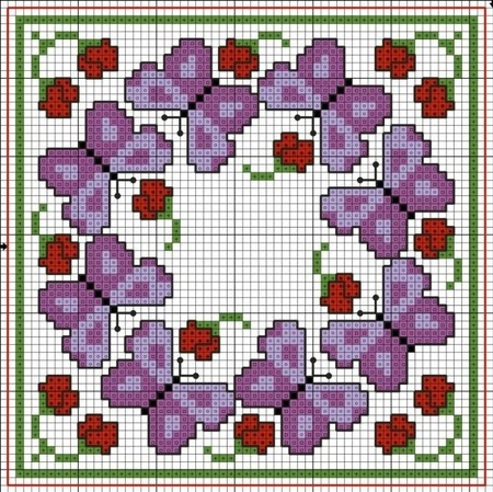 Butterflies Biscornu pattern. - butterflies done in different colors would be great!