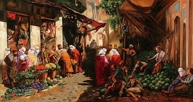 Gente Al Mercato by Guido Borelli