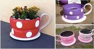 Resultado de imagen para decora tu jardin con llantas
