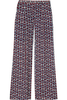 Elizabeth and James - Evelyn wide-leg printed silk-crepe pants: Prints Pants, Prints Silk Crep, Palazzo Pants, Jamesevelyn Wideleg, Prints Silkcrep, Elizabeth And James, James Evelyn, Silk Crepe, Silk Crep Pants