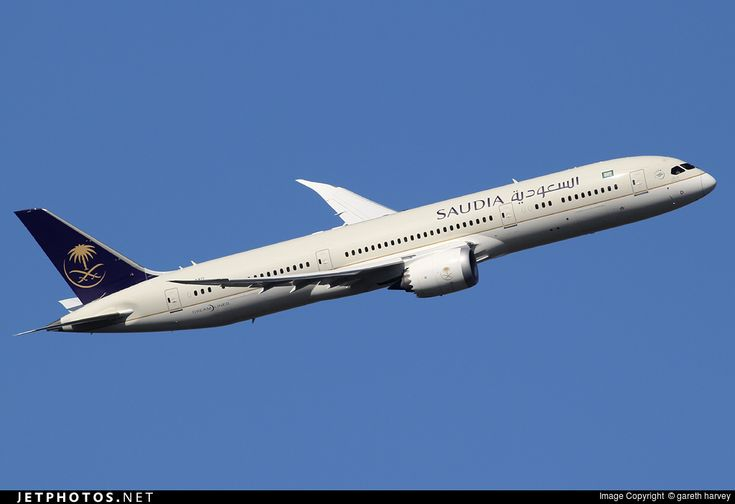 Saudia Boeing 787-9 Dreamliner (registered HZ-ARD; photo by Gareth Harvey)