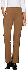 As Is Women with Control Regular Tummy Control Pull-On Boot Cargo Pant