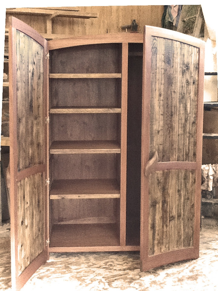 I may be going a little reclaimed-wood-crazy.  Armoire - Reclaimed Cedar and Mahogany