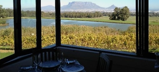 Food with a view at De Grendel restaurant