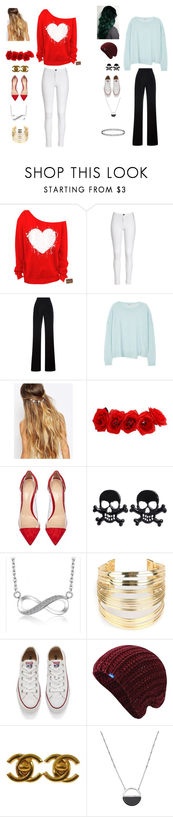 """Popular & Normal"" by naturelove12345 ❤ liked on Polyvore featuring beauty, Misha Nonoo, J Brand, Johnny Loves Rosie, Hot Topic, Gianvito Rossi, WithChic, Converse, Keds and Chanel"