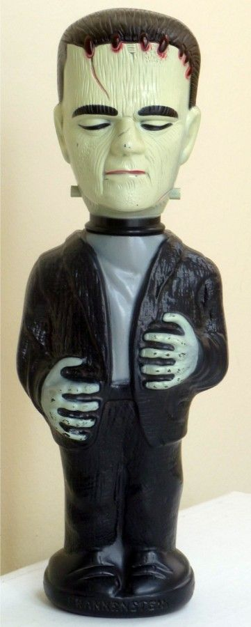 COLGATE-PALMOLIVE: 1965 Frankenstein Soaky Bubble Bath Bottle