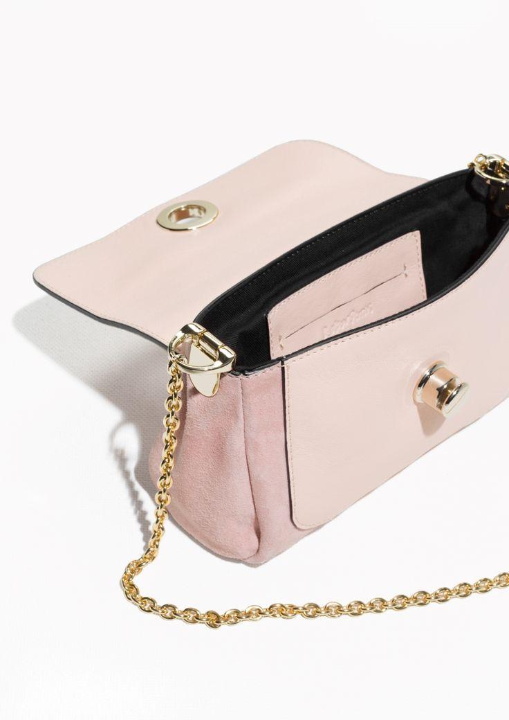 & Other Stories   Chain Strap Suede Shoulder Bag