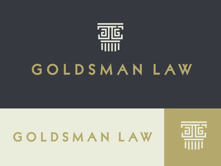 Goldsman Law Logo Concept by Jennifer Hood for Hoodzpah