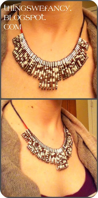 DIY Safety Pin Necklace ((my grandma wants me to make this for her!)) :]