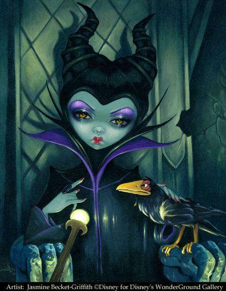 Maleficent Enthroned - Disney Maleficent Art by Jasmine Becket-