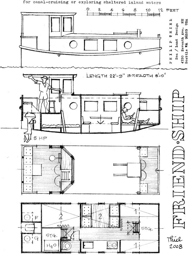 119 best images about shanty boats on pinterest boat for Boat floor plans