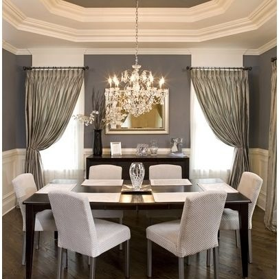 Captivating Grey And White Dining Room: The Interior Of The Tray Ceiling Is Painted To  Match The Wall Color. I Loooove Tray Ceilings. Part 12