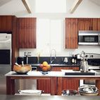 He worked with Kartheiser's existing appliances in the kitchen, trading the old cabinetry for new teak.   Photo by Joe Pugliese.