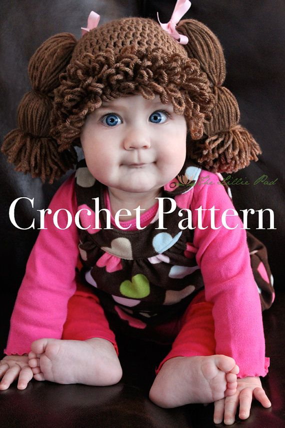 Cabbage Patch Kid Inspired Hat Crochet PATTERN for by TheLilliePad