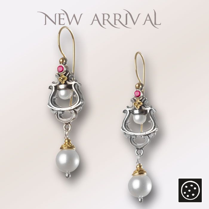 A new pair of 18K solid gold and silver earrings with rubies and pearls. Check out the link for more details and join our newsletter to get your exclusive discount.