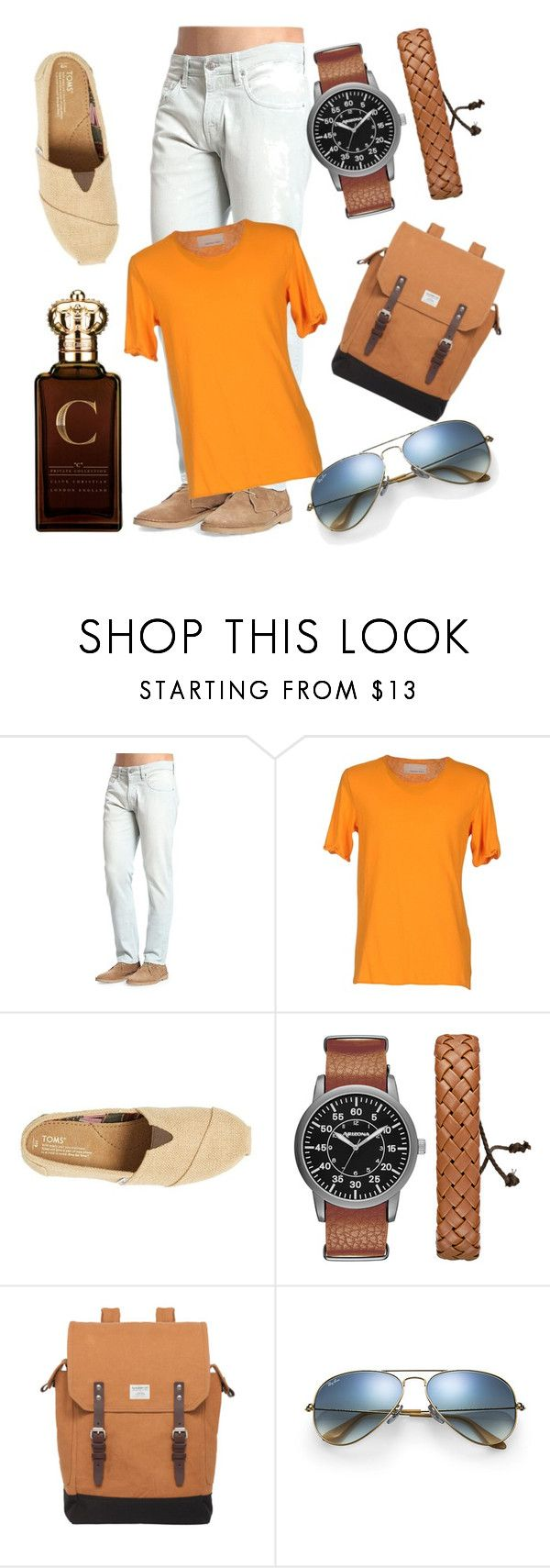 """Made By Bugg #3"" by nianotlong ❤ liked on Polyvore featuring Mavi, Happiness, TOMS, Arizona, Sandqvist, Ray-Ban, Clive Christian, men's fashion and menswear"