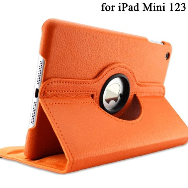 360 Degree Rotating Stand Case For iPad Mini 2 3 4 Case PU Leather Smart Flip Cover For Funda iPad Mini Case Cover Sleep/Wake