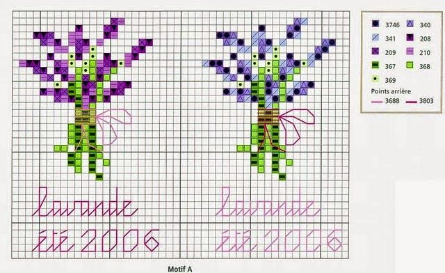 Punto croce - Schemi Gratis e Tutorial: Qualche schema a punto croce dedicati alla lavanda