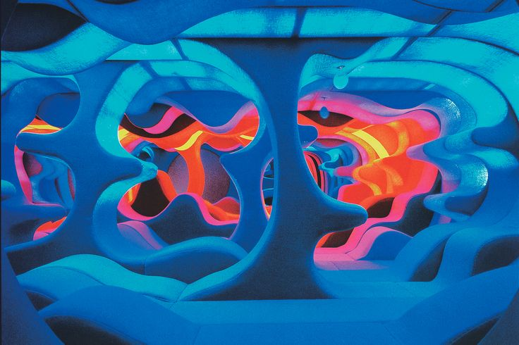 In 1970, the Danish designer Verner Panton was commissioned by Bayer AG to create the interior landscape Visiona 2, one of the most radical visions of the future in twentieth-century design