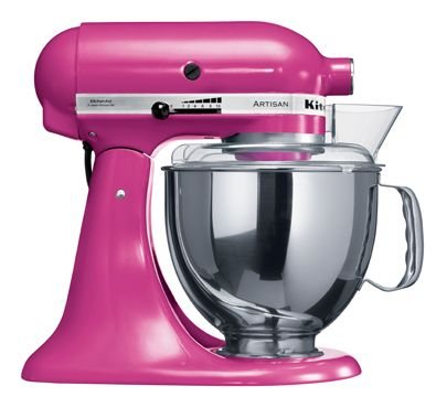 I would gladly trade in my chrome mixer for this HOT pink one!