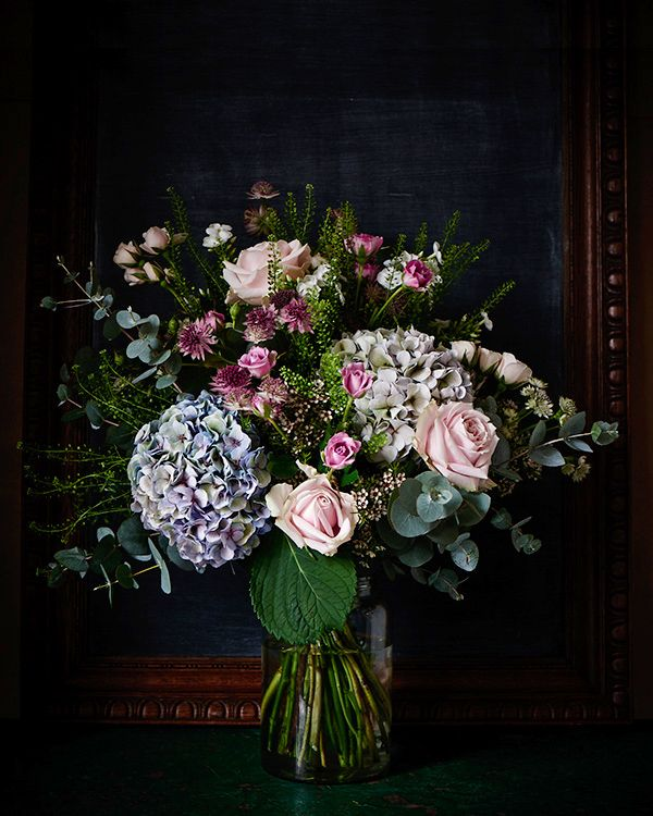 Pinks, creams and pastel bouquet by Scarlet & Violet