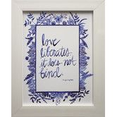 Found it at Joss & Main - Love Quote I Framed Print