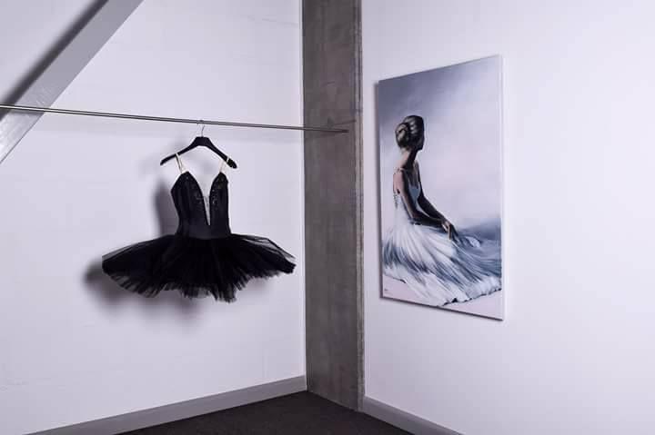 Ballerina painting Agata Mikulska-Sienkiewicz,